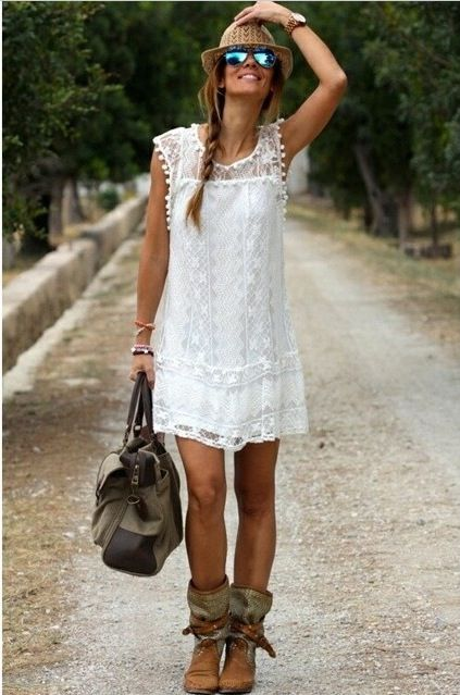 White, lace, girly: perfection