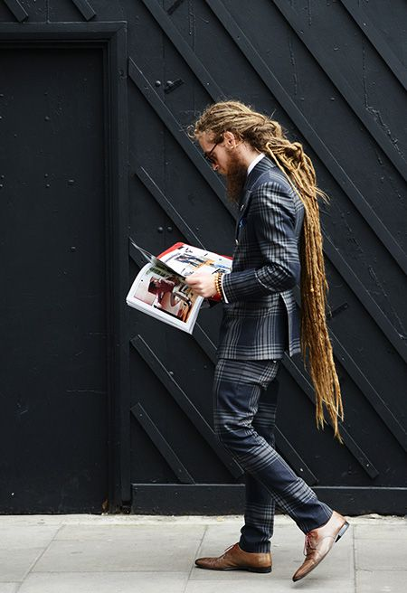 Dredds and Plaids:::Tommy Ton Shoots Street Style at the Spring 2015 Menswear Collections