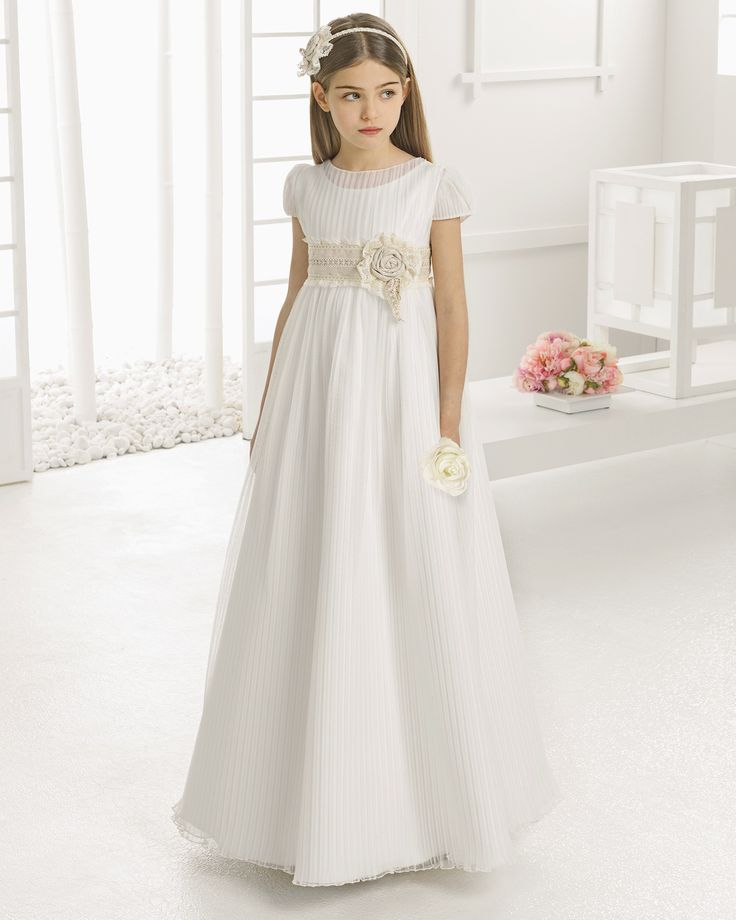 Empire Tulle Lace Waist A-line Tulle Summer First Communion Dress