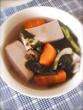 豆腐と海苔のスープ@カンボジア