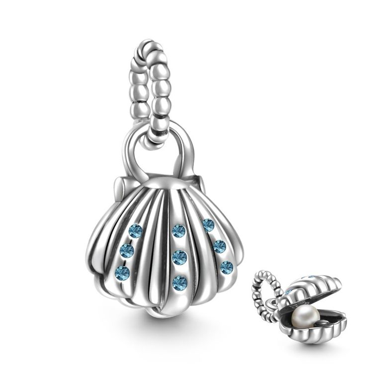 Seashell Charm 925 Sterling Silver