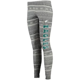 Women's Philadelphia Eagles Concept Sports Charcoal Comeback Tribal Print Leggings