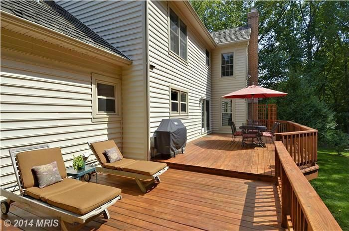 Catch some rays on this backyard deck. #homeforsale 18712 Shremor Drive, Derwood, MD | The Speicher Group www.livelovemaryland.com