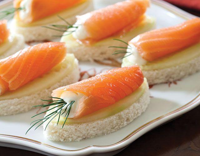 Salmon Cucumber Canapés with Wasabi Aïoli