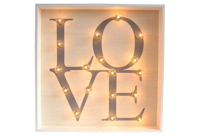 "Marquee Light-Up ""Love"" Sign... consider me charmed!!"