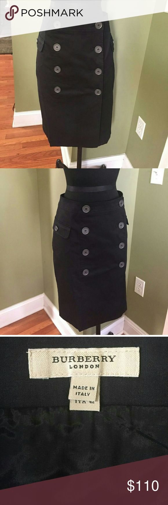 Authentic Burberry Pencil Skirt Burberry Cargo Pencil Skirt.  98% Cotton 2% elastane. 24 inch long. New never been worn. Burberry Skirts Pencil