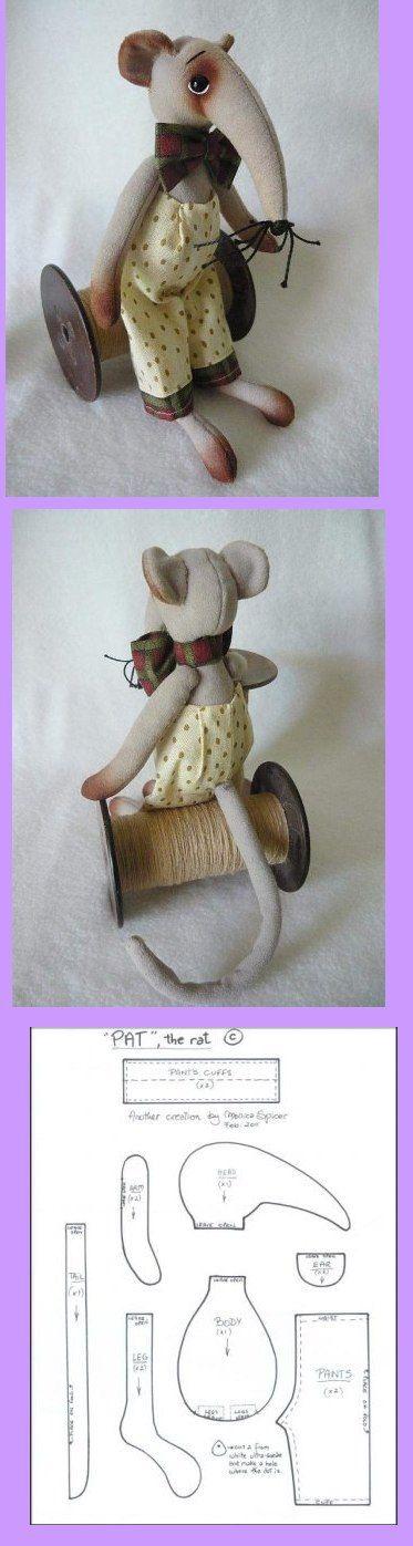 <3 Excellent tableau de patrons poupées et animaux