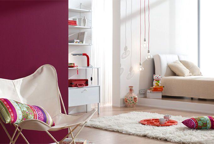 Weiss Lila Beere Kombinieren Lila Wande Haus Deko Alpina Farben
