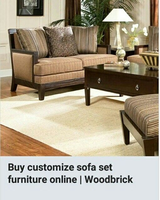 Buy Customize Sofa set online from #Woodbrick Visit:- http://www.woodbrick.in/