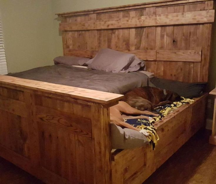 Best 25 King Bed Frame Ideas On Pinterest Beds Size And Rustic Wood