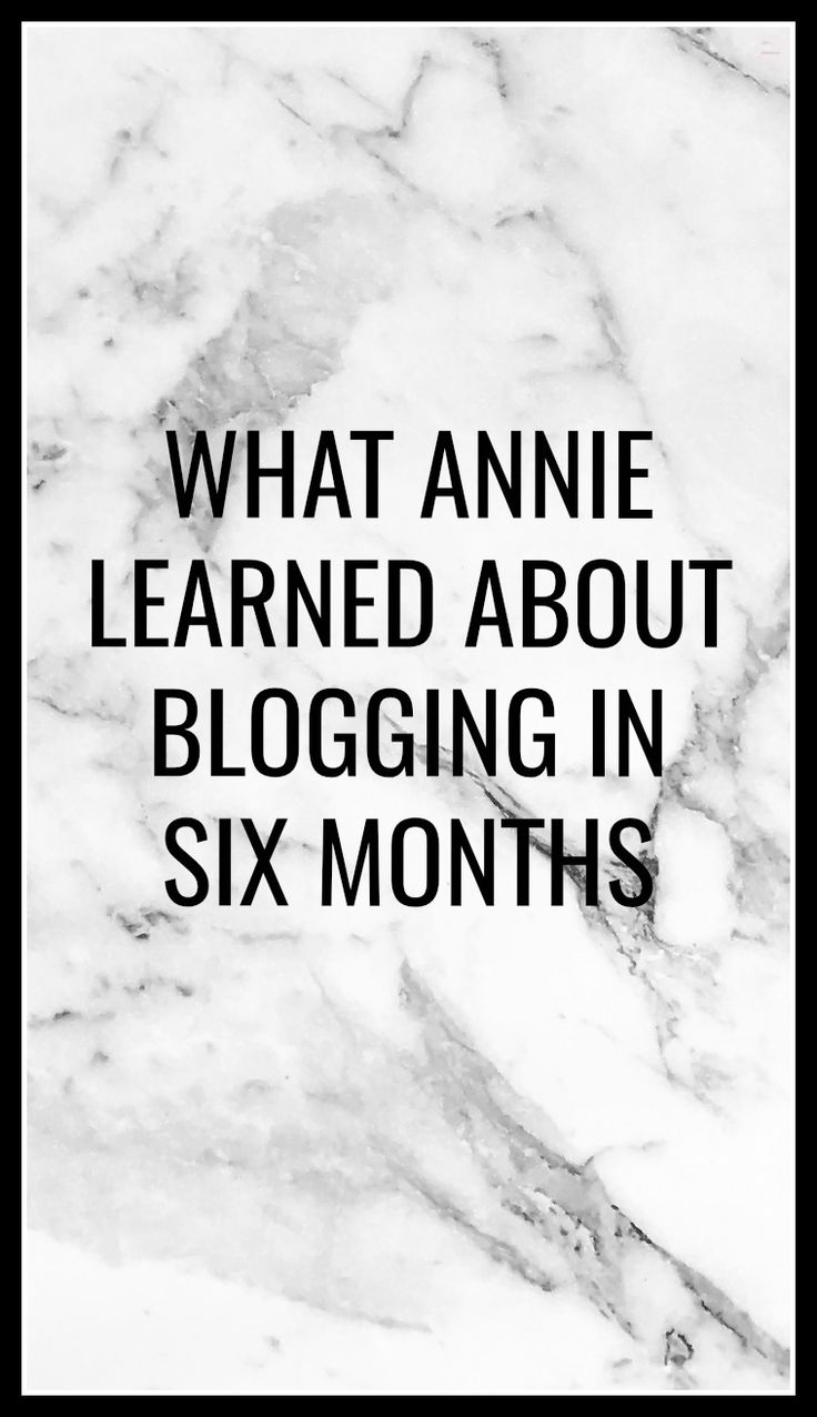 Six months ago, I started this little site with the intention of forming a writing network and improving my craft.  To commemorate my six month anniversary with Annie Likes Words, I'm going to share some of the lessons I've learned on this little journey of mine.