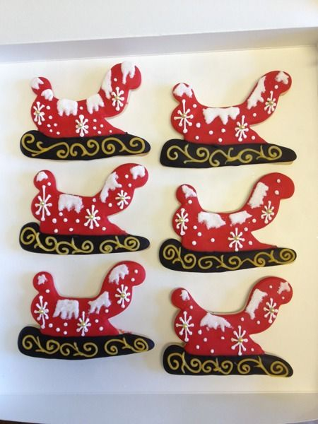 Take a Sleigh Ride - Winter Wonderland  Tilles Park - See more of our cookies at http://www.ctcookietreats.com