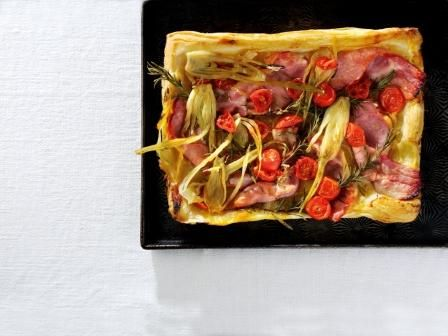 Bacon, Tomato and Fennel Tarte Tatin