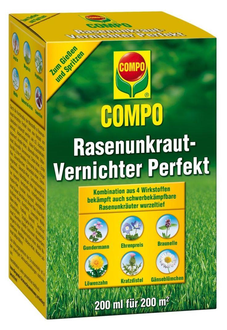 Marvelous COMPO Rasenunkraut Vernichter Perfekt beseitigt zuverl ssig breitbl ttrige Unkr uter im Rasen Durch die Kombination von Wirkstoffen werden auch