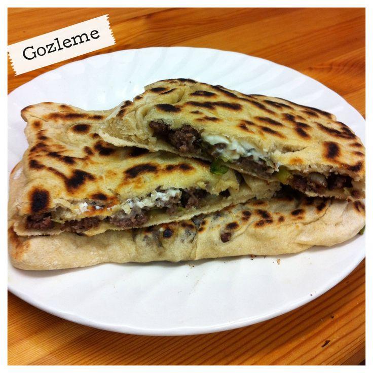 Turkish recipe inspiration: Gözleme (feta cheese, onions & beef)! on my blog, Not So Fancy
