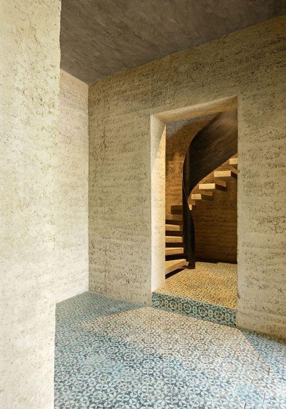 Rauch family Rammed earth home in Schlins, Austria by Boltshauser Architekten