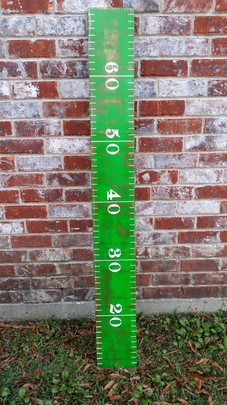 GROWTH CHART  5 ft Football Growth Chart  Kids by RouxBeeLu, $75.00