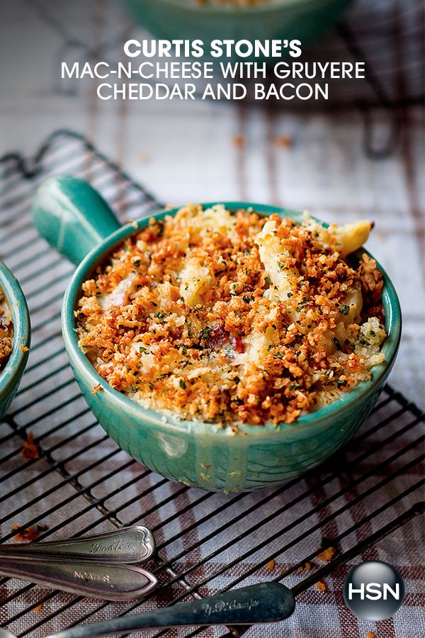 Mac and cheese is the perfect potluck dish in our book! Bring this stepped-up version from Curtis Stone (with gruyere, cheddar and bacon – yum!) to your next work party, football get-together or simply to the dinner table, and everyone will be asking for the recipe! Get the details on our site.