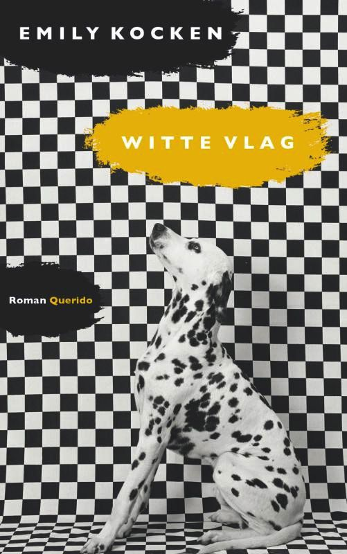 Book cover of the Dutch novel Witte vlag, written by Emily Kocken, published by Em. Querido Publishers, Amsterdam in 2013. Graphic design by Anneke Germers, photography cover by Gert Weigelt.