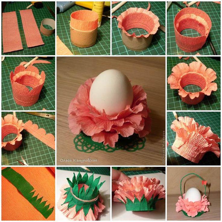 DIY Crepe Paper Lotus Easter Egg Stand  https://www.facebook.com/icreativeideas