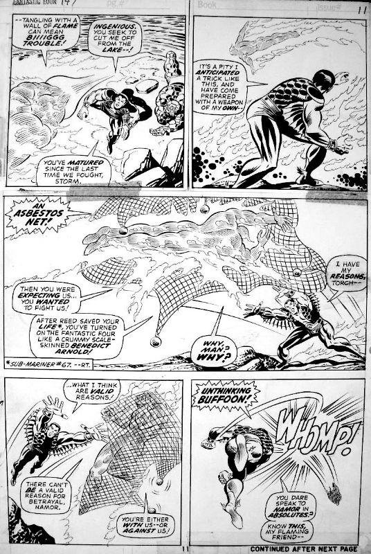 Rich Buckler / Joe Sinnott - Fantastic Four #147 Comic Art