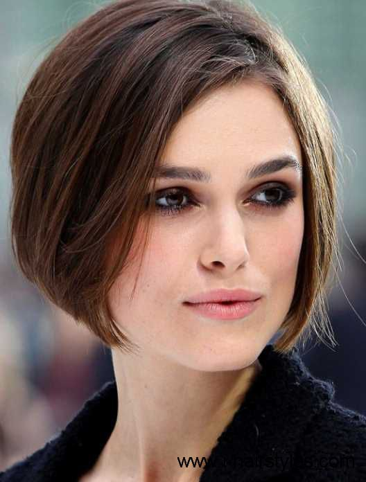 too short!  flat and thin brown bob hairstyle 2015