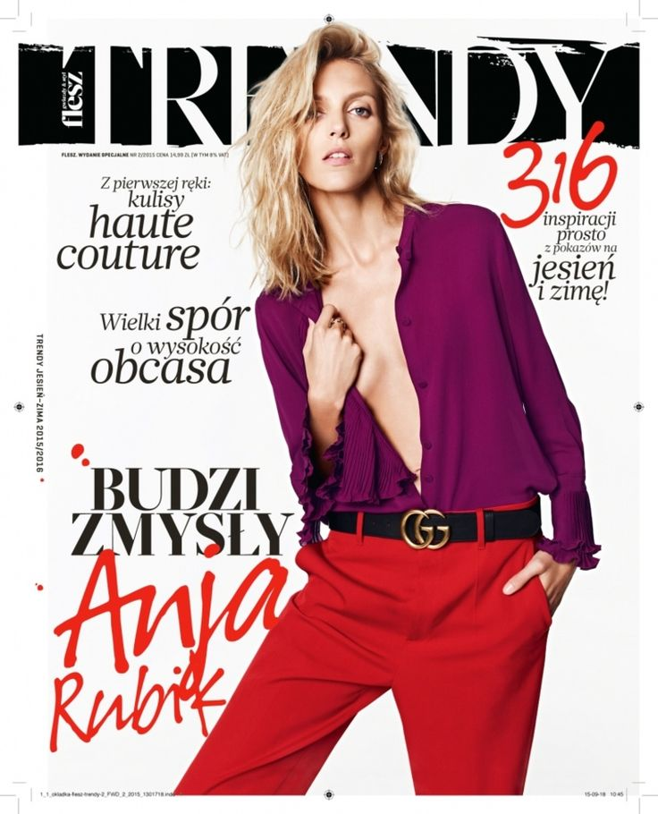 Boska Anja Rubik na okładce Flesz Trendy - numer jesień-zima 2015