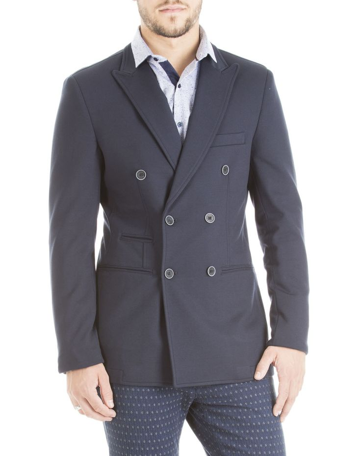 Hamaki-Ho fall/winter 2015 - blue navy double-breasted blazer