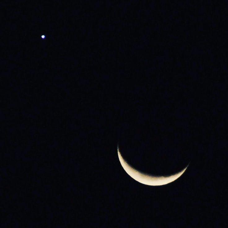 Venus&Moon  #Venus #Moon