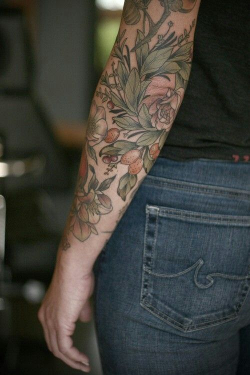 Botanical, herbal, nutrition tattoo Más #nature_tattoo_color
