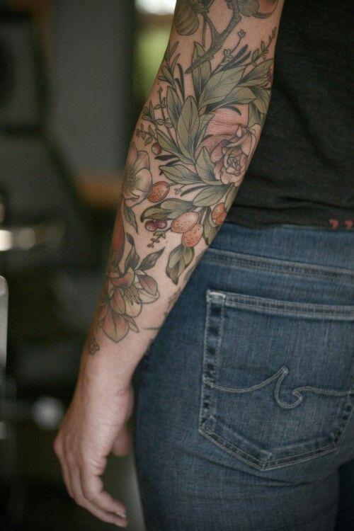 Botanical, herbal, nutrition tattoo