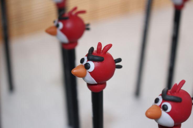 Angry Birds en lápices para souvenirs.