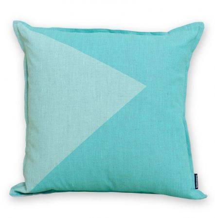 Wave the flag cushion cover in mint