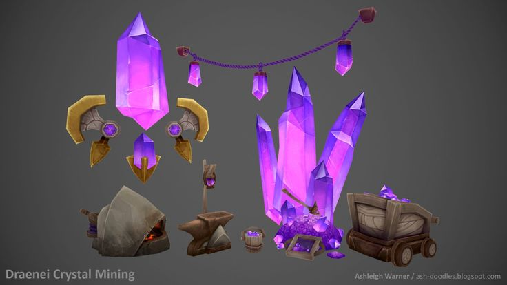 Draenei Crystal Mining, Ashleigh Warner on ArtStation at http://www.artstation.com/artwork/draenei-crystal-mining