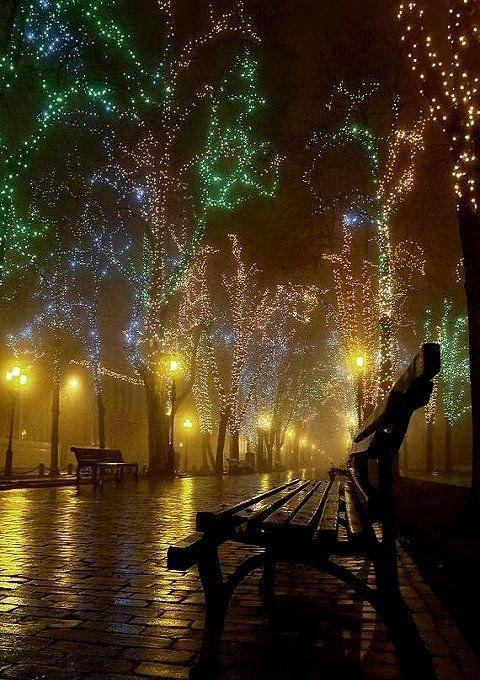 Christmas lights in Odessa, Ukraine