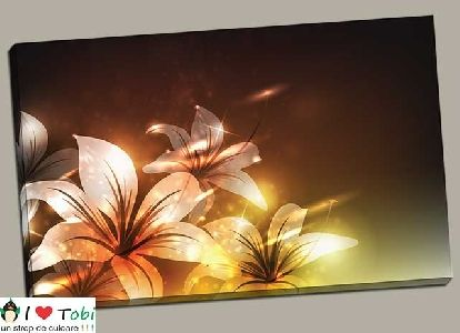 Tablou cu flori design abstract - cod L26