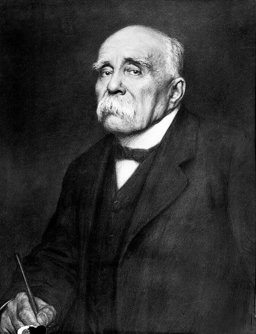 France -Triple Entente- Prime Minister Georges Clemenceau. He played an important role in the Treaty of Versailles by being the senior representative for France. He pushed to have Germans pay for the costs of the war.