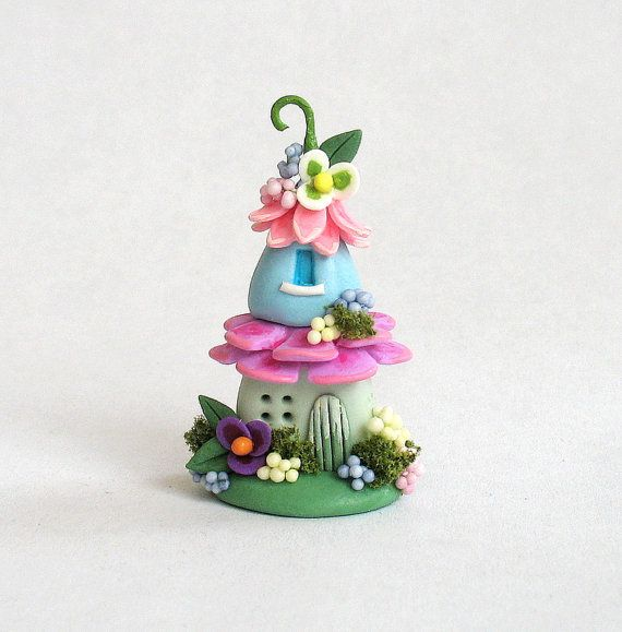 Miniature  Charming Fairy  Blossom Whimsy House  OOAK by C. Rohal