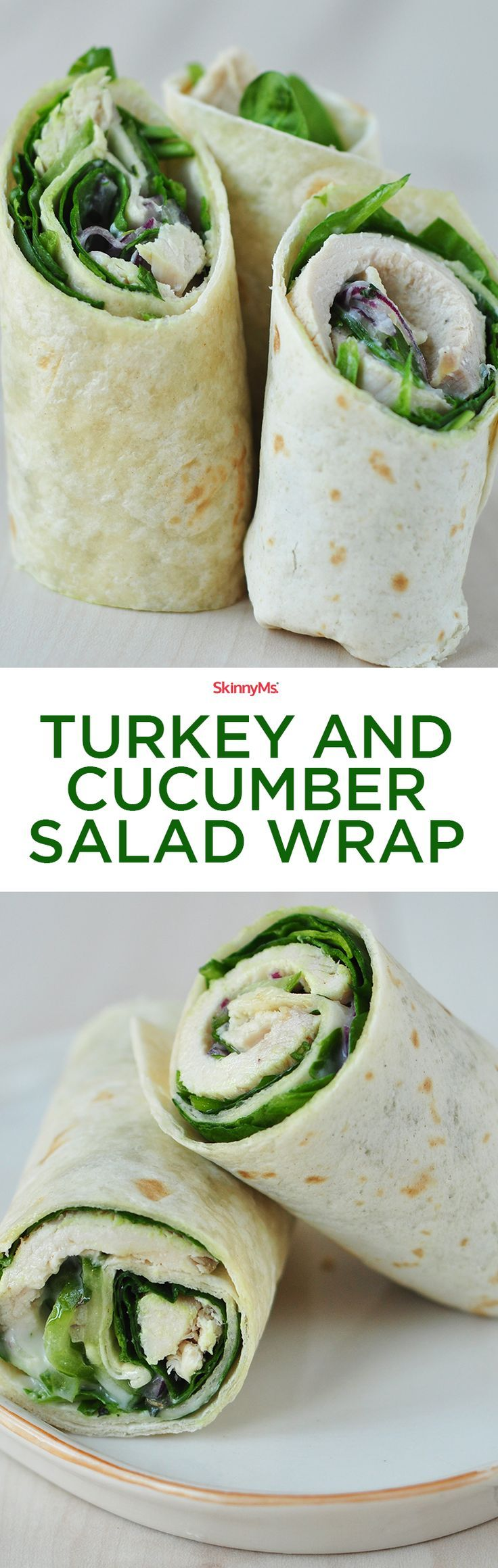 This Turkey and Cucumber Salad Wrap is easy, convenient, and delicious!