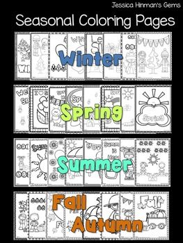 Seasonal Coloring Pages