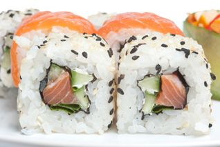 Listing the calories in sushi including all your favorite types of sushi, rolls, and sashimi, along with fat, carbs, fiber, and protein. Weight watchers points are included now as well.