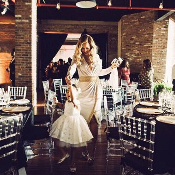 Dancing Duo from Blue Ivy Is Beyoncé's Mini-Me  How cute do Bey and her mini-me's coordinating white dresses look on the dance floor?