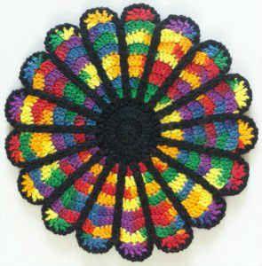 Cathedral Window Potholder – Free Crochet Pattern