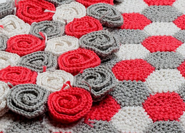 Free Crochet Rose Blanket Pattern : Rose Field Baby Blanket pattern by Tanya Shliazhko Roses ...