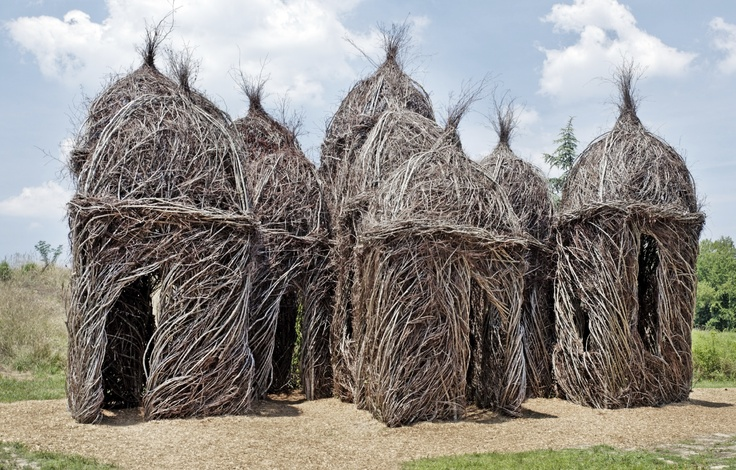 Huts Built Out Of Branches Collection Rewoven