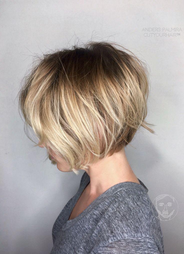 Aveda Wavy long blonde bob Short hair Beach wave medium ...