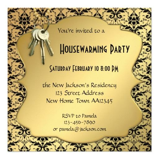 Housewarming Invitation Samples India. Gold  Damask Housewarming Party Invitation 78 best time Invitations images on Pinterest Baby