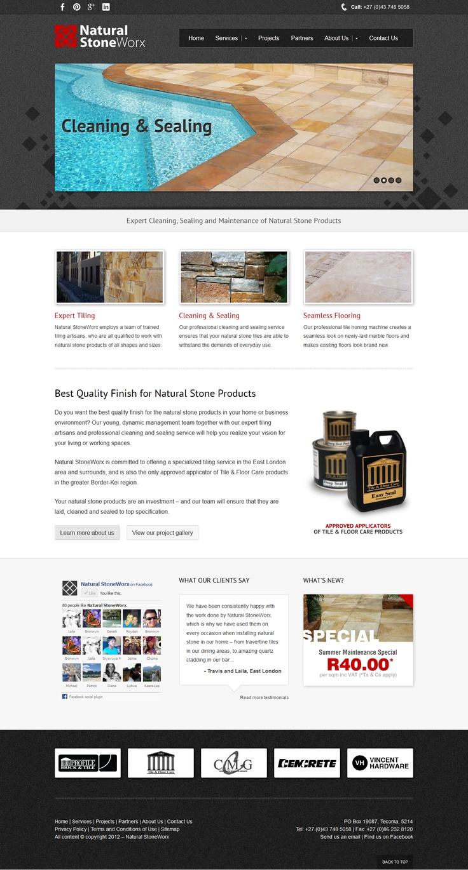 Website design for Natural StoneWorx.