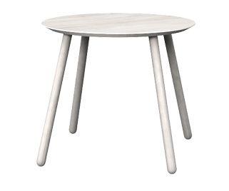 Stół okrągły OX. Kolor: OFF WHITE.  Miloni.pl