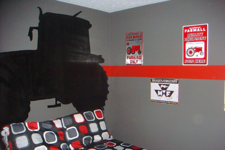 17 best ideas about red boys rooms on pinterest red kids for International harvester room decor